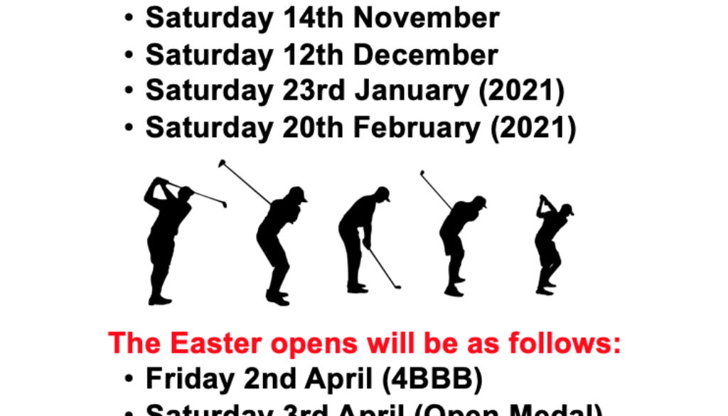 RGC Winter & Easter Opens