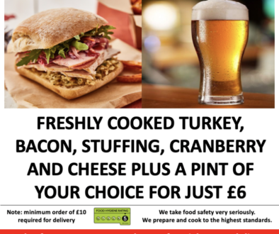 Try Festive Burger & Pint Deal for £6